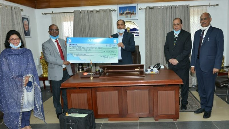 Employees of SJVNL contribute Rs. 45 lakh towards CM Relief Fund